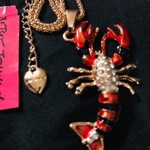 BETSEY JOHNSON~ Lobster Necklace